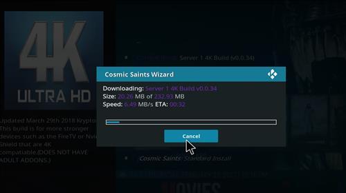 How to Install Cosmic Saints 4K Kodi Build with Screenshots step 25