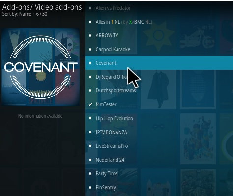 How to Install Covenant Kodi Add-on with Screenshots New Step 16