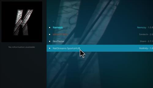 How to Install NetStreams Sports Hub Kodi Add-on with Screenshots step 17