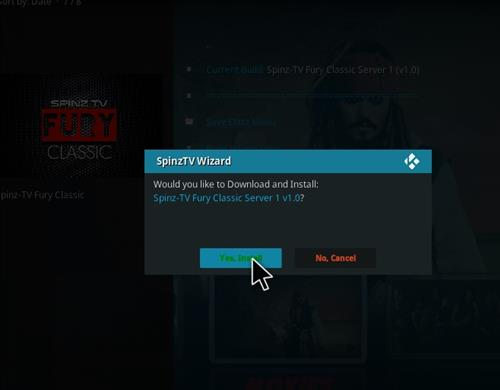 How to Install SpinzTV Fury Classic Kodi Build with Screenshots step 26