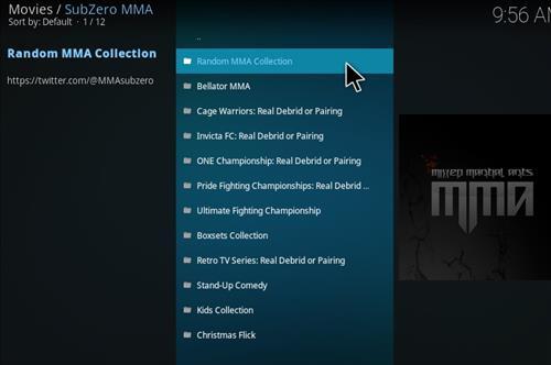 How to Install Subzero MMA Kodi Add-on with Screenshots pic 2