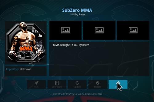 How to Install Subzero MMA Kodi Add-on with Screenshots step 18