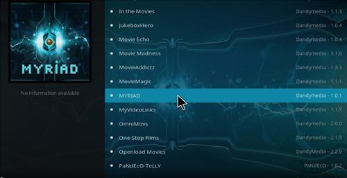 How to Install Myriad Kodi Add-on with Screenshots step 17
