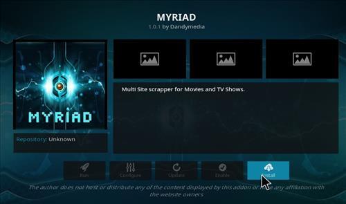 hHow to Install Myriad Kodi Add-on with Screenshots step 18