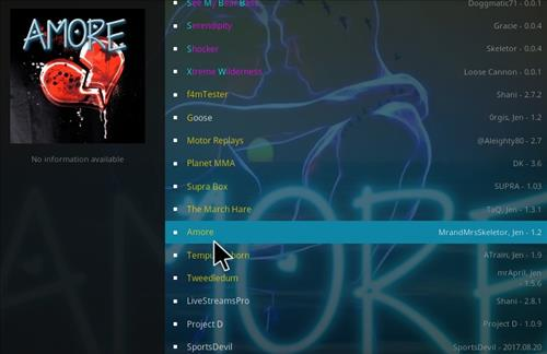 How to Install Amore Kodi Add-on with Screenshots step 17