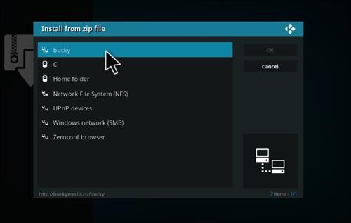 How to Install Bucky Kodi Build with Screenshots step 11