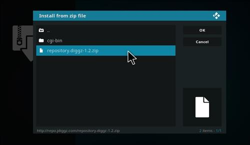 How to Install Digzz Kodi Build with Screenshots step 12