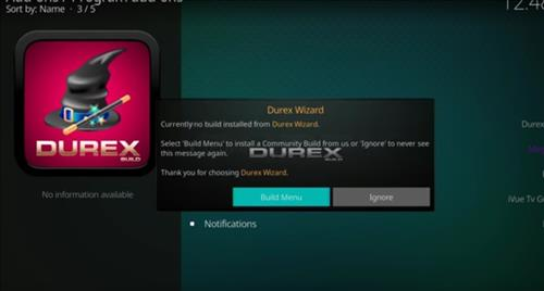 How to Install Durex Build Kodi 17.6 Krypton with Screenshots step 16
