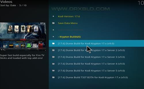 How to Install Durex Build Kodi 17.6 Krypton with Screenshots step 17