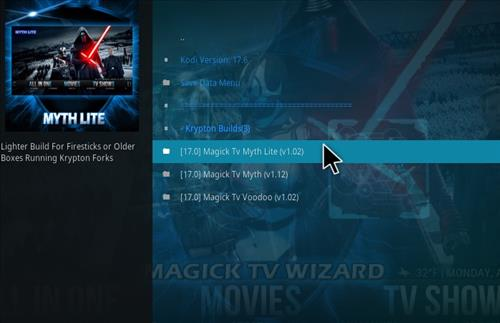 How to Install Magick TV Myth Lite Kodi Build with Screenshots step 18