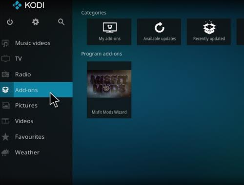How to Install Misfits Xmas lite Kodi Build with Screenshots step 21