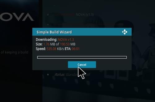 How to Install Nova Kodi Build with Screenshots step 21