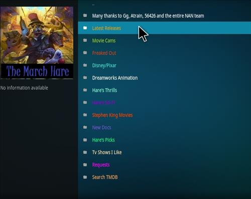 How to Install The March Hare Kodi Add-on with Screenshots pic 2