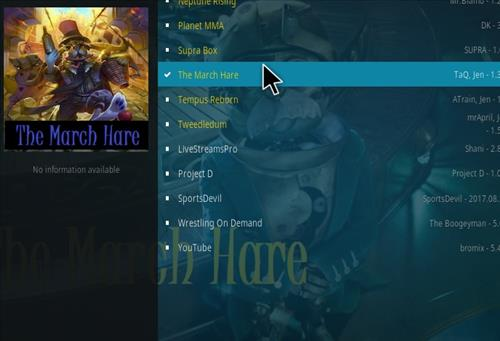 How to Install The March Hare Kodi Add-on with Screenshots step 17