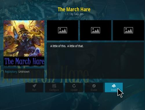 How to Install The March Hare Kodi Add-on with Screenshots step 18