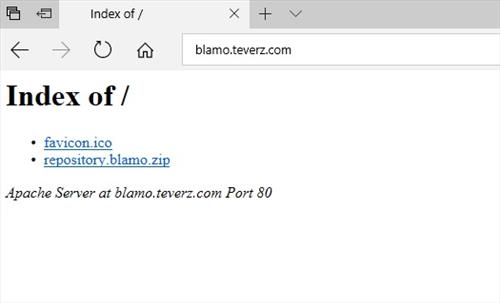 manual and download blamo repository step 1