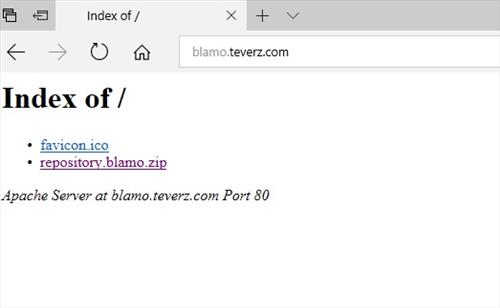 manual and download blamo repository step 2