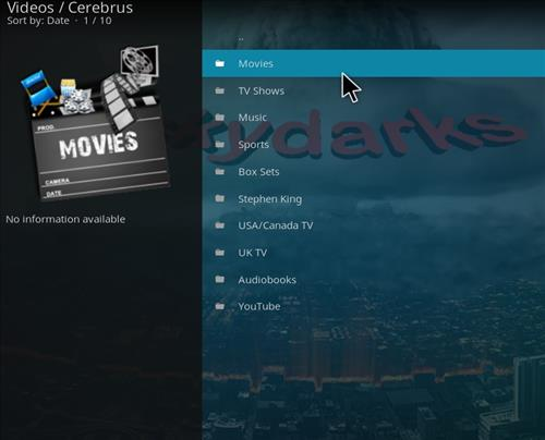 How to Install Cerebrus Kodi Add-on with Screenshots pic 2
