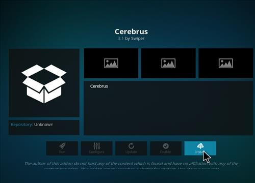 How to Install Cerebrus Kodi Add-on with Screenshots step 18