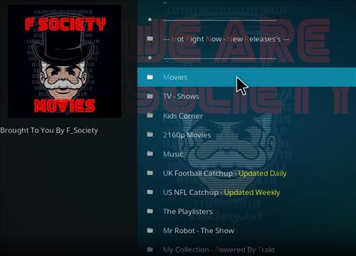 How to Install F Society Kodi Add-on with Screenshots pic2