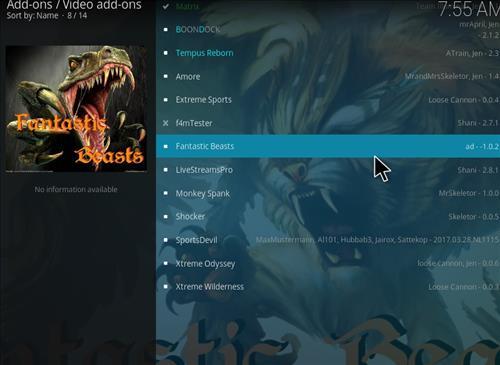 How to Install Fantastic Beasts Kodi Add-on with Screenshots step 17