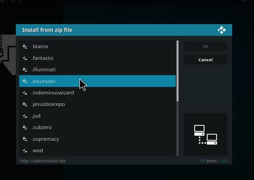 How to Install Incursion Kodi Add-on with Screenshots step 11