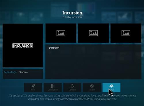 How to Install Incursion Kodi Add-on with Screenshots step 18