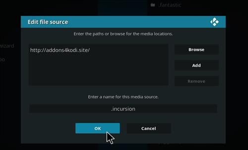 How to Install Incursion Kodi Add-on with Screenshots step 7