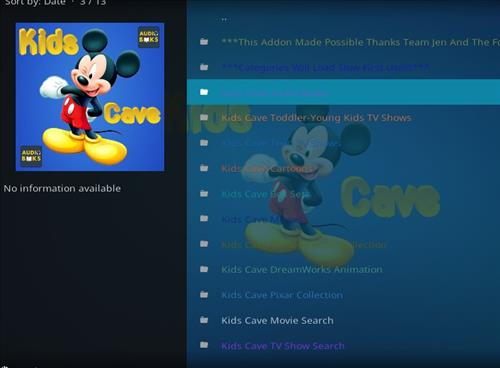 How to Install Kids Cave Kodi Add-on with Screenshots pic 2