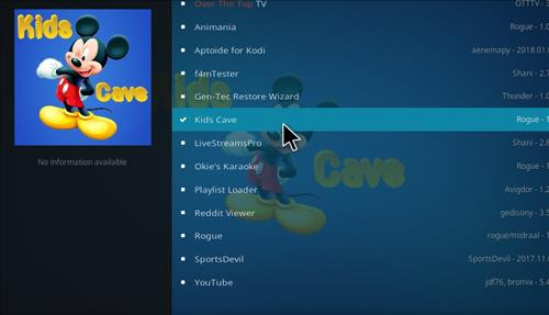 How to Install Kids Cave Kodi Add-on with Screenshots step 17