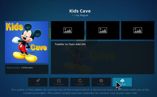 How to Install Kids Cave Kodi Add-on with Screenshots step 18