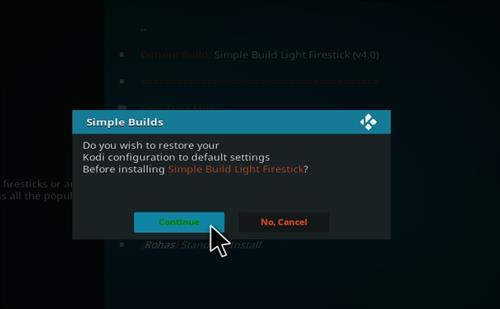 How to Install Simple Build Light Firestick with Screenshots step 19
