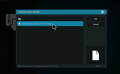 How to Install Subzero Kodi Add-on with Screenshots step 8