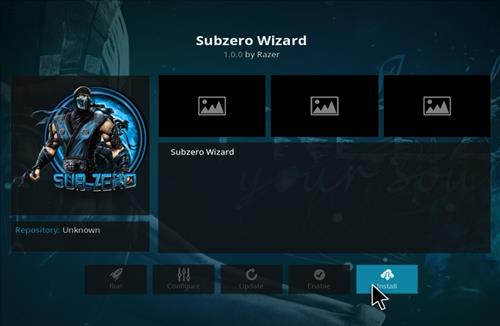How to Install Subzero Kodi Build with Screenshots step 18