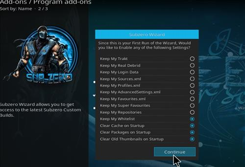 How to Install Subzero Kodi Build with Screenshots step 20