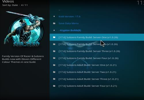 How to Install Subzero Kodi Build with Screenshots step 22