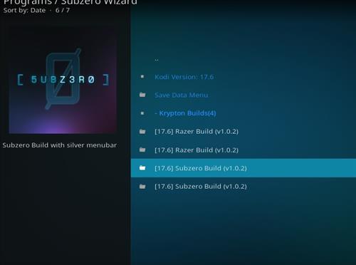 How to Install Subzero Kodi Build with Screenshots step 24