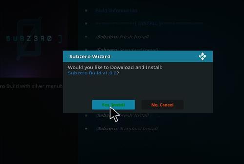 How to Install Subzero Kodi Build with Screenshots step 26