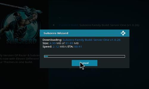 How to Install Subzero Kodi Build with Screenshots step 26