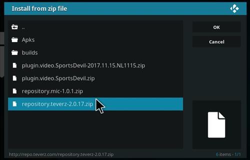 How to Install Teverz Ultra Kodi Build with Screenshots step 12