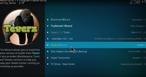 How to Install Teverz Ultra Kodi Build with Screenshots step 14