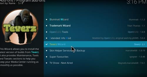 How to Install Teverz Ultra Kodi Build with Screenshots step 17