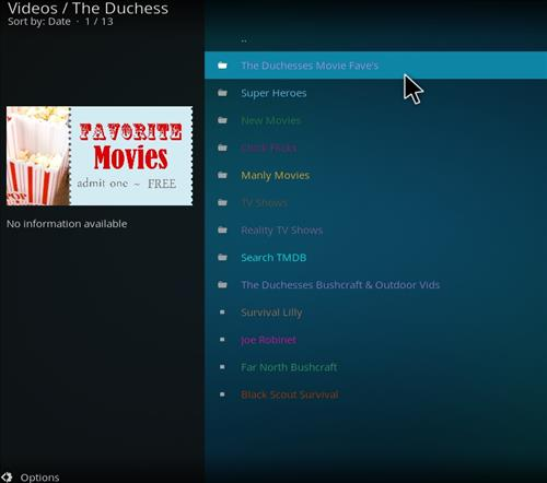 How to Install The Duchess Kodi Add-on with Screenshots pic 2