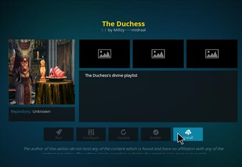 How to Install The Duchess Kodi Add-on with Screenshots step 18