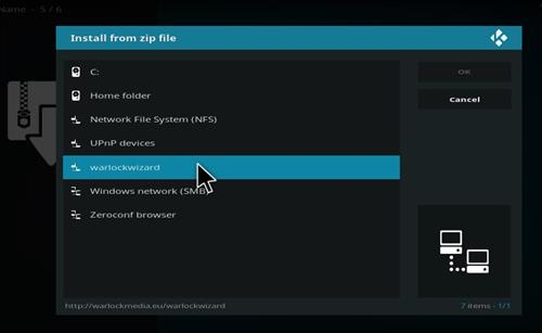 How to Install Warlock Kodi Build with Screenshots step 11