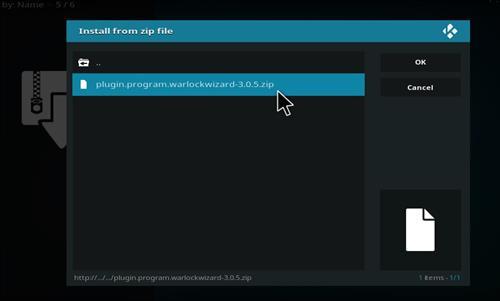 How to Install Warlock Kodi Build with Screenshots step 12