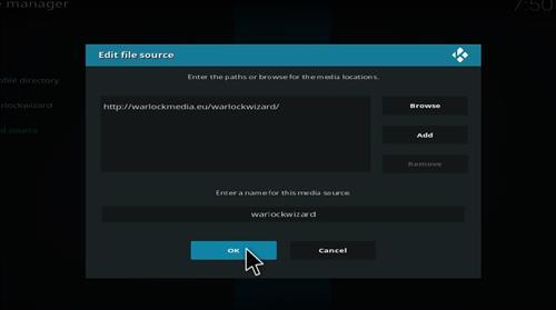How to Install Warlock Kodi Build with Screenshots step 7