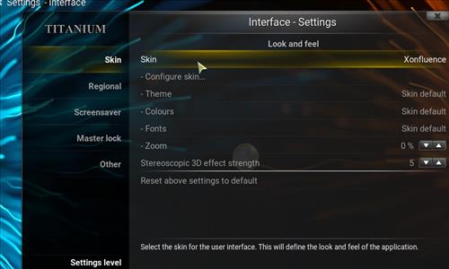How to change the Skin back to Default Estuary Titanium step 3