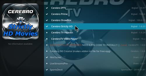 How top Install Cerebro Strictly HD Movies Kodi Add-on with Screenshots step 17