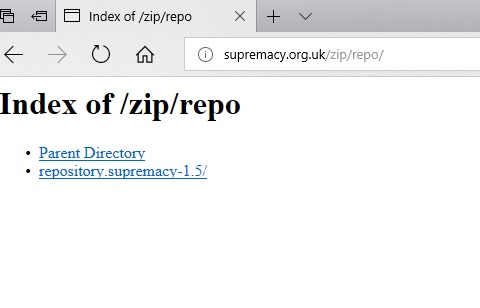 Manual and download supremacy repo step 1